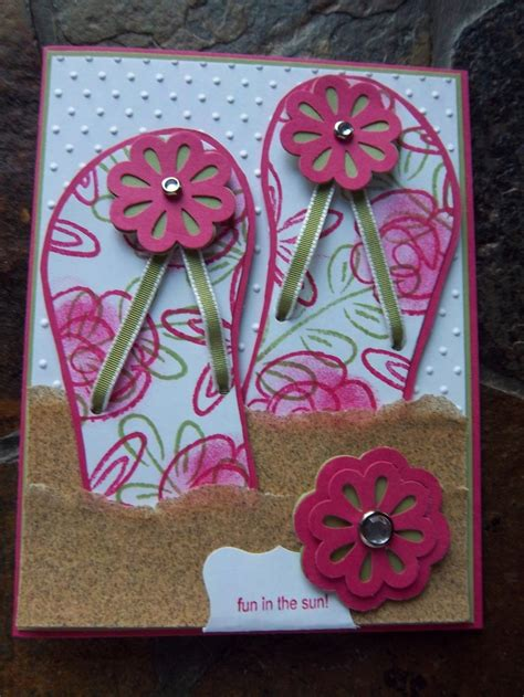 flip flop card template 17 best images about a flip flops cards on