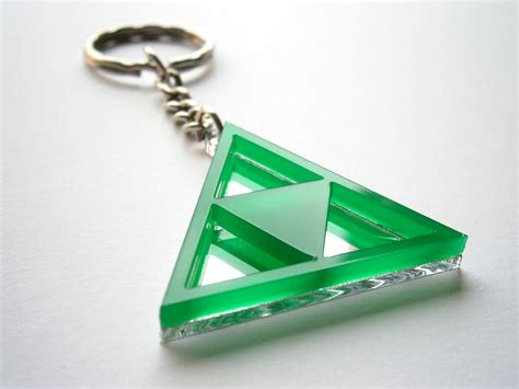 how to make laser cut acrylic jewelry triforce keychain laser cut green acrylic and