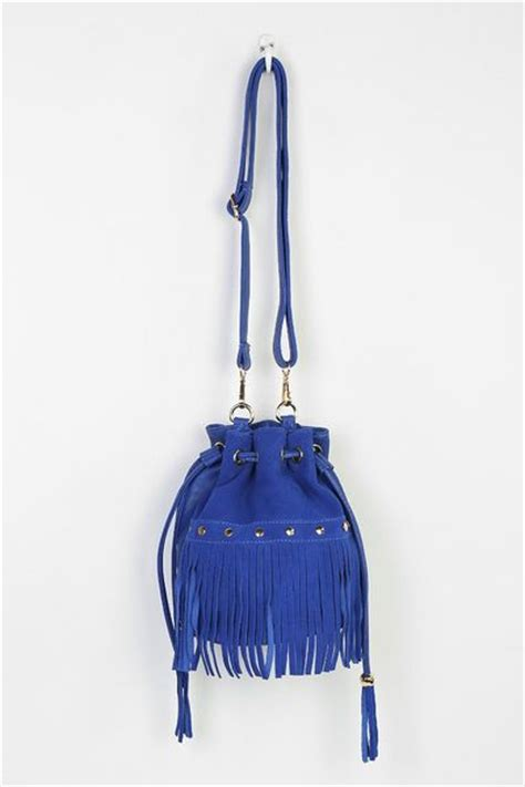 Outfitters Turquoise Suede Bag by Outfitters Studded Suede Fringe Bag In