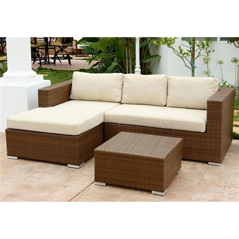 Sofa And Table Set by Pacific Loft Palermo Outdoor Sectional Sofa And Table Set