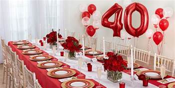 Anniversary Decorations Ideas by Ruby 40th Wedding Anniversary Supplies City