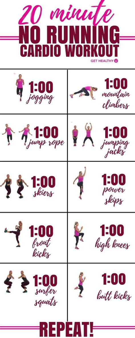 1000 ideas about 20 min workout on no