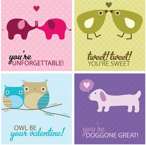 free printable animal valentines day cards free valentines day printable use as labels valentine