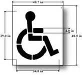 disabled parking template handicap parking stencils for parking lots