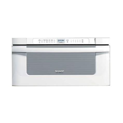Home Depot Microwave Drawer by Sharp 30 In W 1 2 Cu Ft Built In Microwave Drawer In White With Sensor Cooking Kb6525pw The