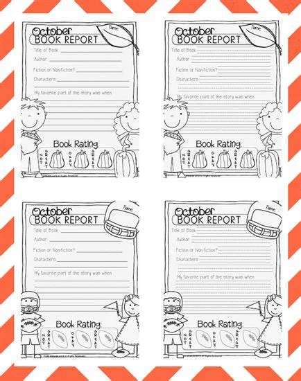 theme book report 2 fall math and literacy freebies