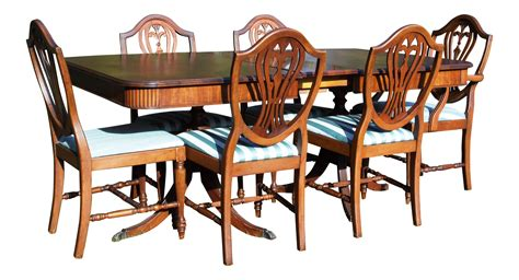 mahogany leaf and 6 dining room chairs 7 piece dining set thomasville hepplewhite duncan phyfe mahogany dining set