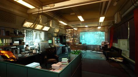 indoors futuristic deus  screenshots  rays office