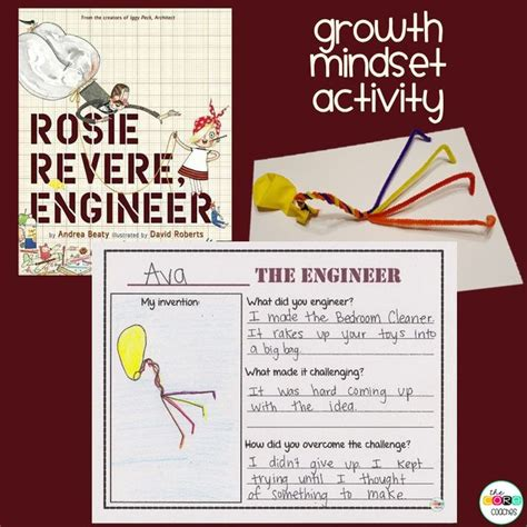 libro rosie revere engineer 17 best ideas about growth mindset lessons on growth mindset activities growth