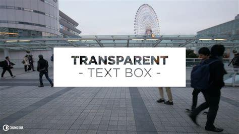 Premiere Box 4735 by Transparent Text Box Preset Adobe Premierepro
