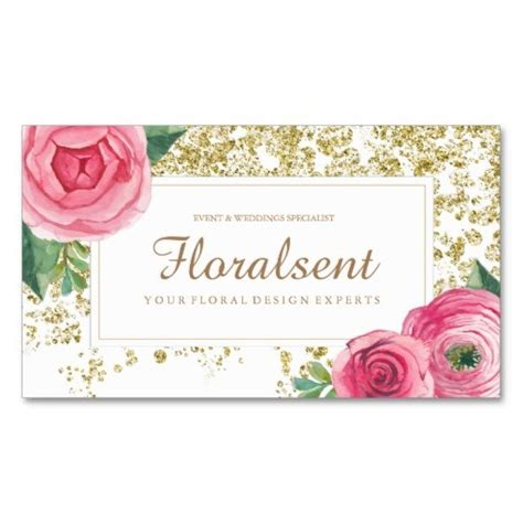 floral business cards beautiful watercolour floral