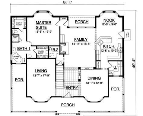 home plan homepw07706 2843 square southern style house plans 2843 square foot home 2