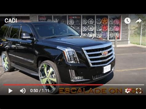 cadillac escalade 2017 custom 2017 cadillac escalade with 30 inch custom rims