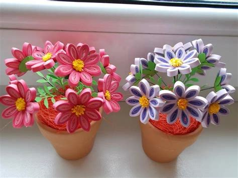 potted paper flower ideas quilled flowers in pot quilling inspiration quilling flower and quilling flowers