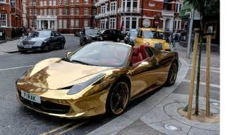 458 spider wrapped in gold belonging to