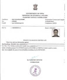 Certification Letter For Passport How To Get Police Clearance Certificate In India Corpocrat Magazine