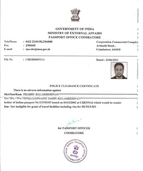 Passport Verification Reference Letter Format In Tamil How To Get Clearance Certificate In India Corpocrat Magazine