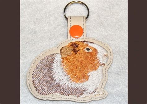 embroidery design guinea pig guinea pig key fob machine embroidery pattern