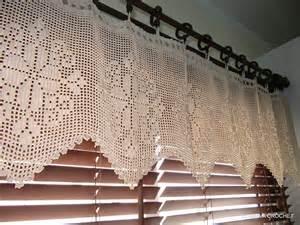White Lace Kitchen Curtains Crochet Curtain Ecru Lace Curtains Crochet Home Decor