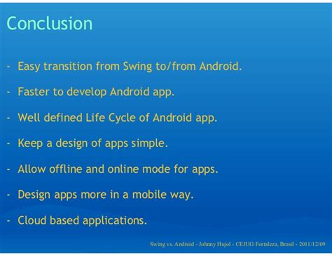 swing based application java swing vs android app