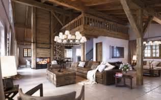 wohnzimmer deko modern d 233 co chalet de montagne atmosph 232 re chaleureuse et unique