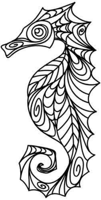 hard seahorse coloring pages advanced doodle of seahorse difficult coloring pages for