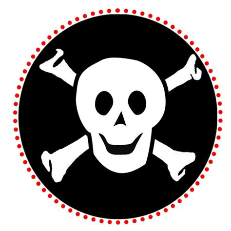 Pirate Skull And Crossbones Template