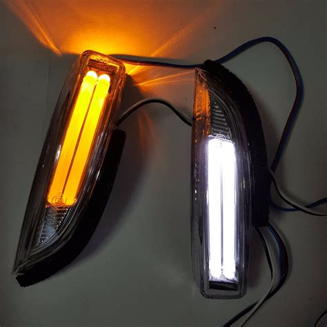 baby rear view mirror with light 2 pcs rearview rear view mirror led turn signal light