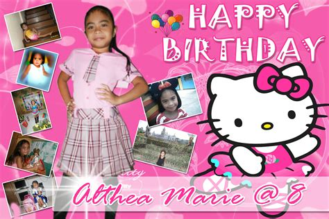 hello kitty themes for tarpaulin althea marie s 8th birthday hello kitty tarp cebu