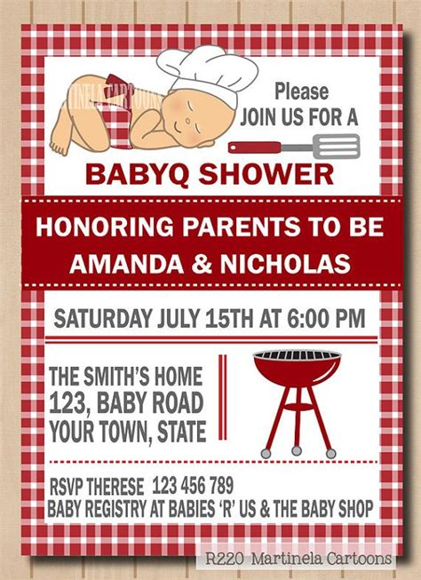 Baby Shower Bbq Invitations by Bbq Baby Shower Invitation Babyq Invite Baby Q Shower