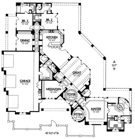 adobe southwestern style house plan 3 beds 3 5 baths