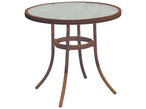 Glass Bistro Table Suncoast Kona Wicker 30 Glass Bistro Table Su123t30