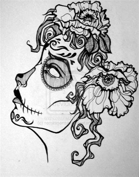 pinterest tattoo skull mexican drawn sugar skull pinterest pencil and in color drawn