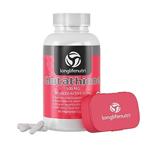 New Nano Whitening Alpha Capsule reduced l glutathione supplement 500mg gsh 60 vegetarian capsules complex with milk thistle