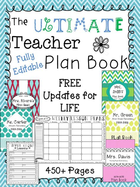 the ultimate plan book editable free plan
