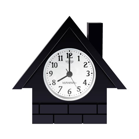 house clock how to create a vector house shaped clock in illustrator
