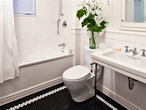 bathroom black and white tile 23 nice ideas and pictures of basketweave bathroom tile