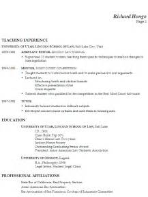 resume faculty teaching real estate transactional