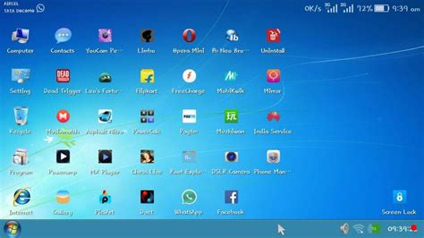 windows launcher for android 100 free real windows 7 launcher for android device