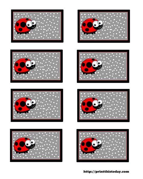 free printable ladybug name tags search results for printable ladybug name labels