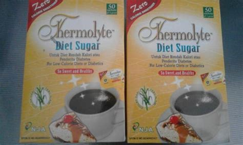 jual thermolyte diet sugar isi 50 gula diet rendah kalori