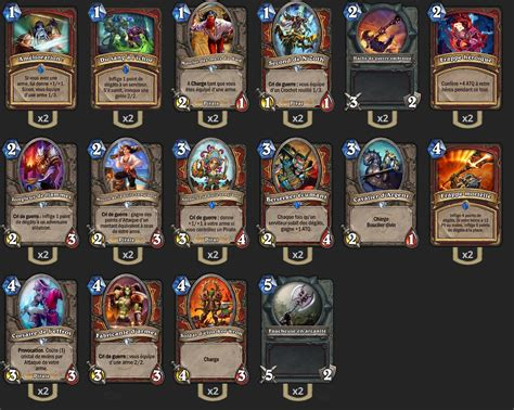 deck low cost hearthstone deck standard guerrier pirate low cost hearthstone