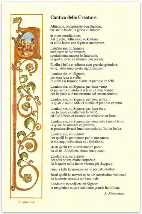 pergamena cantico delle creature zubboli