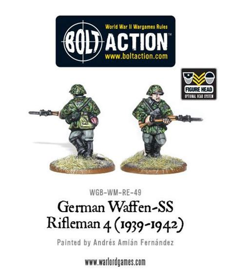 1939 1942 Set Of 4 German Waffen Ss Rifleman 4 1939 1942 Warlord