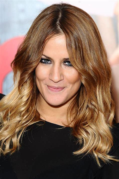 Caroline Flack Dip Dyed Hair | dressed in vintage hair envy dip dye