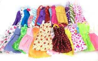 Nk 10 pcs mix sorts beautiful party clothes fashion dress for barbie