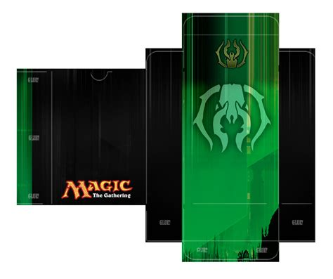 Magic Card Box Template by Golgari Guild Deckbox Template By Lumberjacksquid On