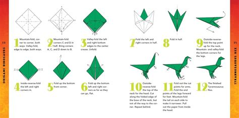 Simple Origami Dinosaur - origami dinosaurs kit tuttle publishing