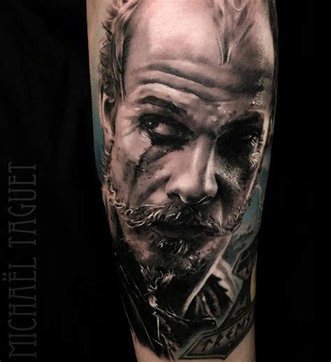floki from vikings realistic guys arm tattoo best