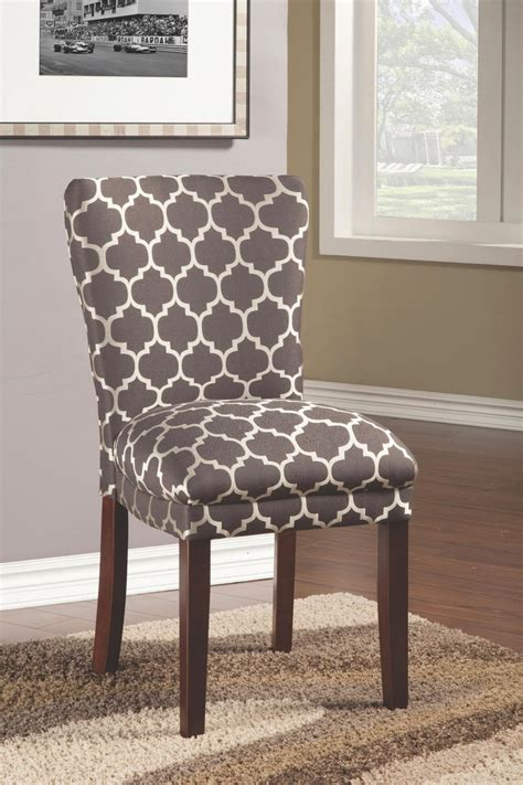 coaster 104044 grey fabric dining chair a sofa